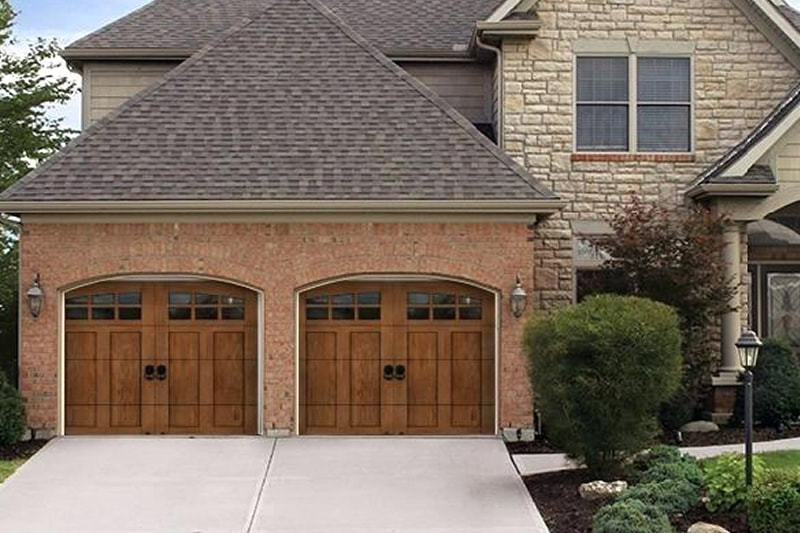 Stained Garage Doors Prosper Texas